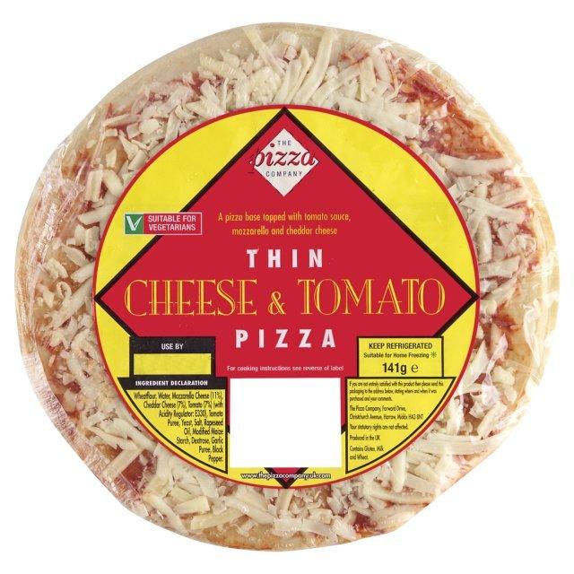 The Pizza Co 7 Thin Crispy Cheese Tomato Pizza Ocado