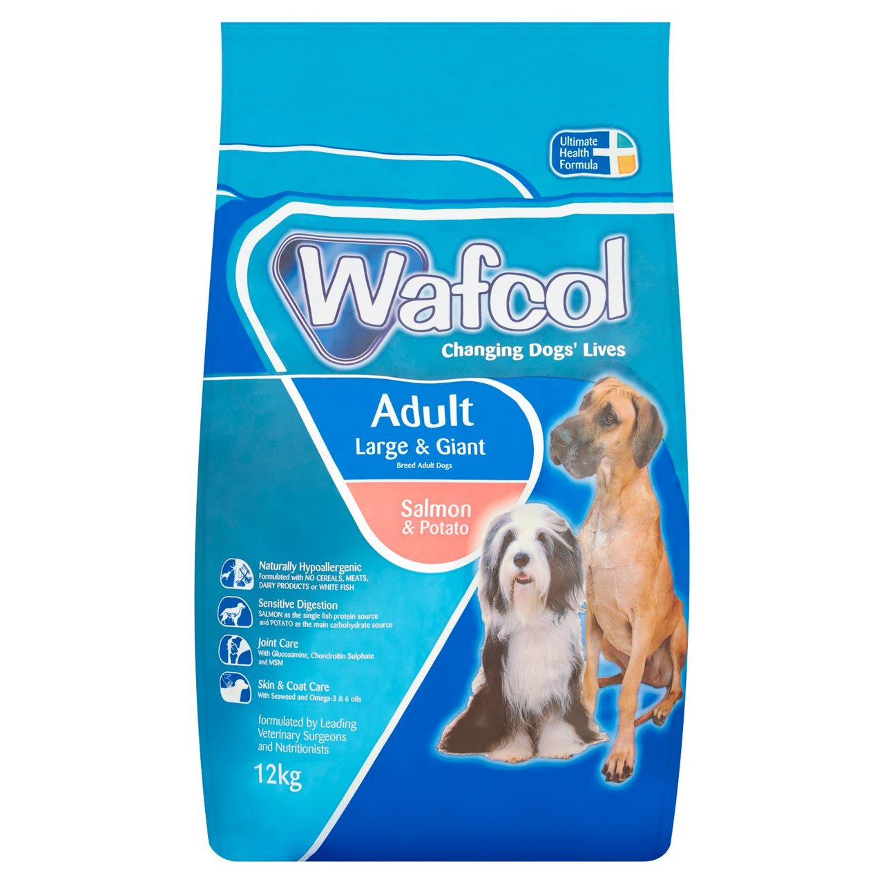 Wafcol Adult Largegiant Breed Salmon Potato Dry Dog Food 12kg