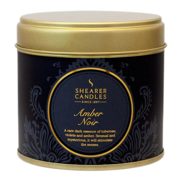 Shearer Candles Amber Noir Scented Candle Tin, 40hr