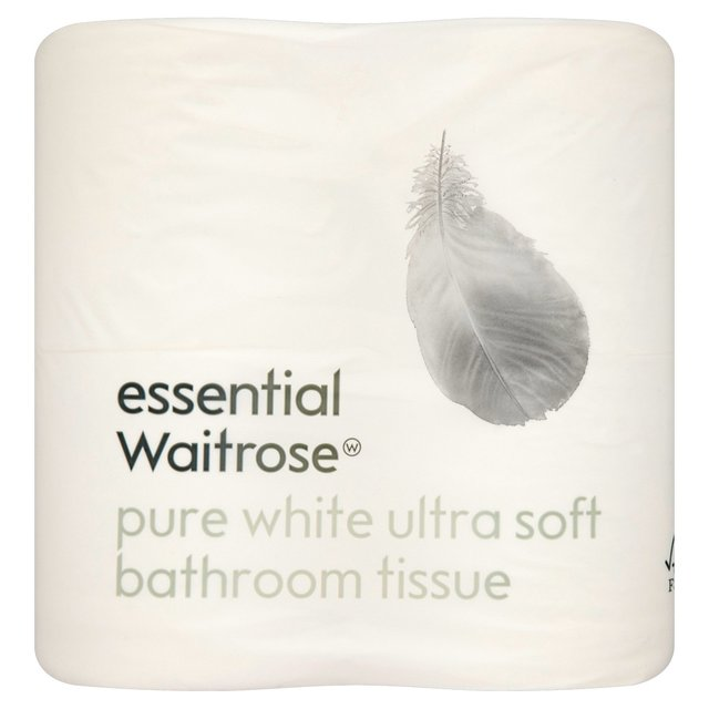 Ultra Soft Toilet Tissue Pure White essential Waitrose