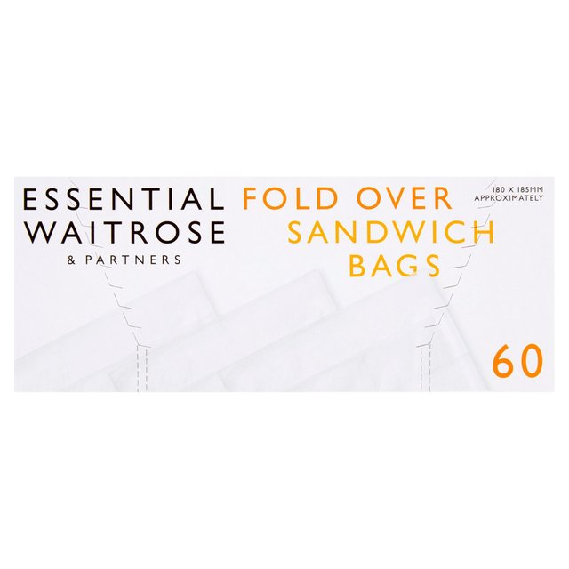 Essential Waitrose Sandwich Bags Small 180x185mm