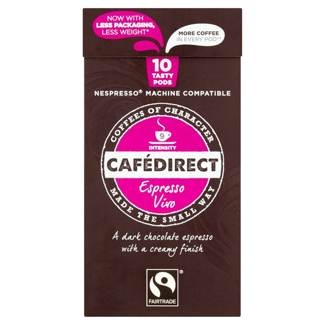 cafedirect vivo nespresso compatible coffee capsules