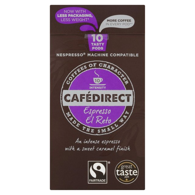 cafedirect el reto nespresso compatible coffee capsules