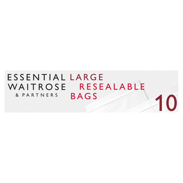 Large Reclosable Food & Freezer Bags 300x465mm essential Waitrose