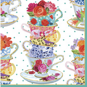 Floral Tea Party 3ply Paper Napkins, 33cm