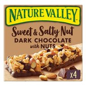 Nature Valley Sweet & Salty Nut Dark Chocolate, Peanut & Almond Cereal Bars