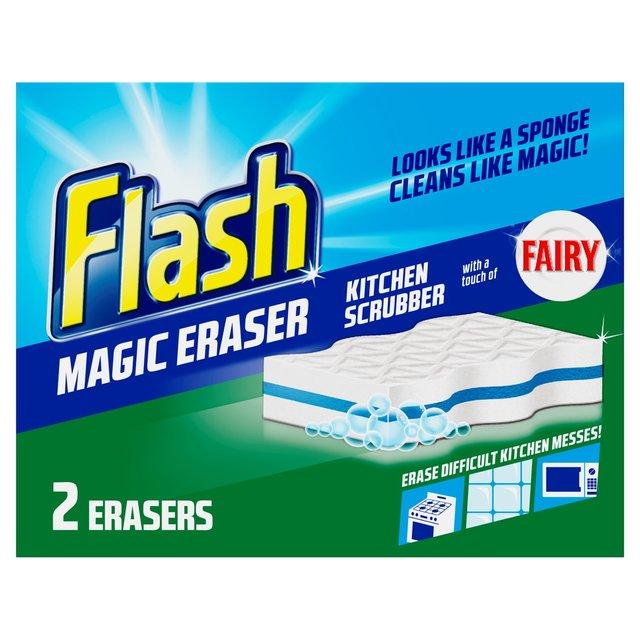 flash magic eraser household cleaner kitchen 2 per pack. Black Bedroom Furniture Sets. Home Design Ideas
