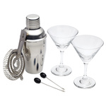 BarCraft Luxe Lounge 6 Piece Mini Martini Cocktail Tool Set