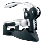 BarCraft Connoisseur Deluxe Lever-Arm Corkscrew Gift Set, Black