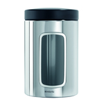 Brabantia Steel Window Canister 1.4L, Silver