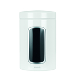Brabantia Steel Window Canister 1.4L, White