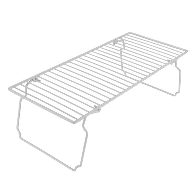 metaltex space saver shelf  white from ocado