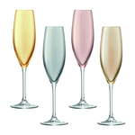 LSA Polka Champagne Glasses, Multi