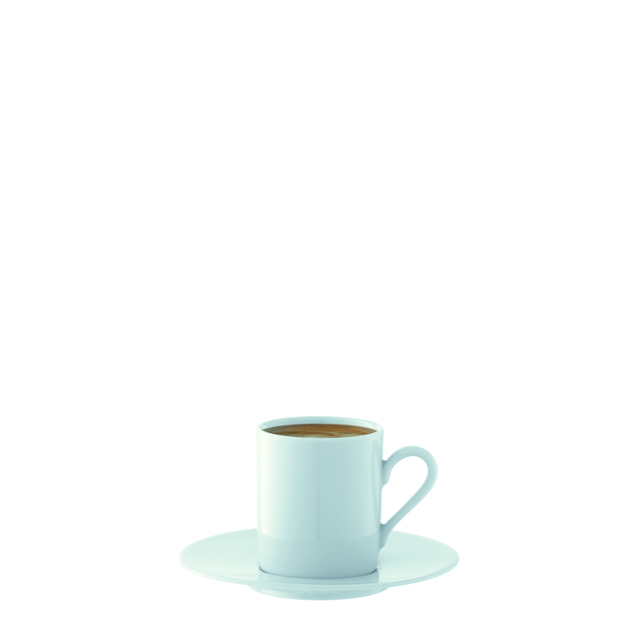 LSA Dine Porcelain Straight Espresso Cup & Saucer, White 4 per pack ...