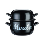 World of Flavours Mediterranean Enamelled Steel Mussels Pot