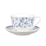 Caravan Trail Penzance Fine China Tea Cup & Saucer, Blue