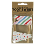 Toot Sweet Cake Toppers, Assorted Colours