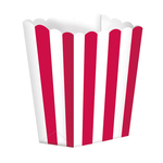 Popcorn Boxes 6cm Red
