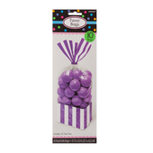 Striped Party Bag Purple