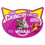 Whiskas Trio Crunchy Cat Treats Poultry Flavours