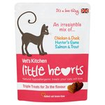 Vet's Kitchen Little Hearts Cat Treats, Triple Flavour