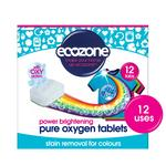 Ecozone Stain Remover & Brightener for Colours Oxy Action 12 Tablets