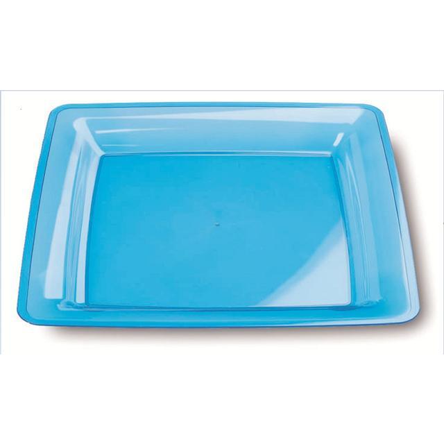 Mozaik Plastic Square Plates 23cm Turquoise ...  sc 1 st  Ocado & Mozaik Plastic Square Plates 23cm Turquoise 6 per pack from Ocado