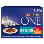 Purina ONE Senior Cat Food Chicken & Beef
