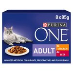 Purina ONE Adult Cat Food Chicken & Beef