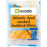 Ocado Dyed Smoked Haddock Fillets Frozen