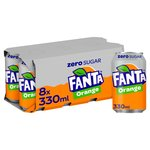 Fanta Orange Zero No Added Sugar