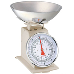 Terraillon Traditional Kitchen Scale with Dial and Bowl 10kg, Cream