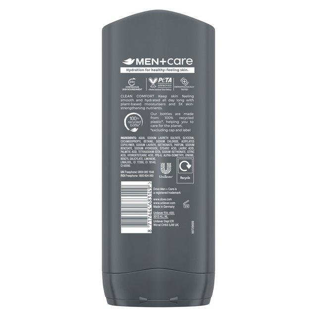 Dove Men Care Clean Comfort Body Face Wash Ocado