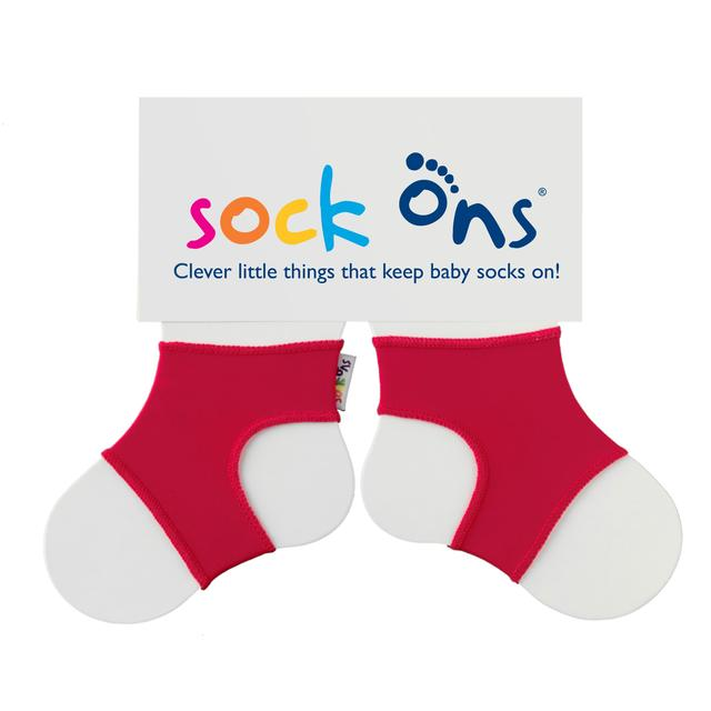 Sock Ons Red 6-12m