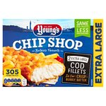 Young's Chip Shop 2 Extra Large Battered Cod Fillets Frozen