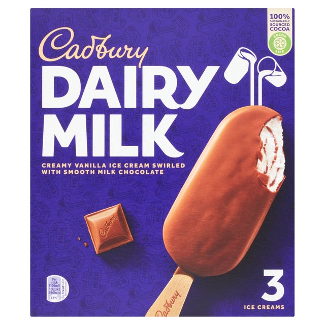 Dairy Milk Swirl Ice Cream Stick 3 X 100ml From Ocado
