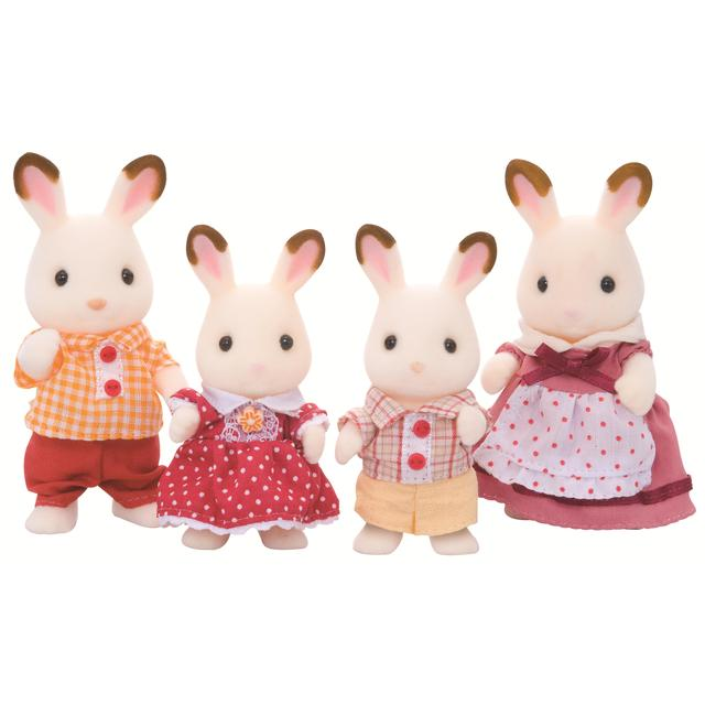 Sylvanian Families Chocolate Rabbit Family, 3yrs+