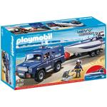 Playmobil Police Truck with Speedboat 5187, 4yrs+