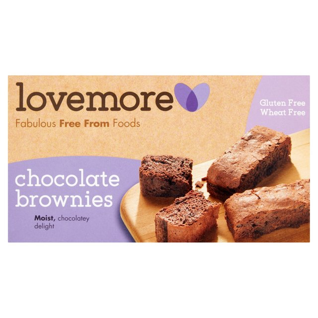 Lovemore Gluten Free Chocolate Brownies 5 per pack from Ocado