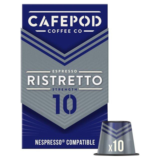CafePod Ristretto Nespresso Compatible Coffee Capsules 10 per pack from Ocado -> Nespresso Ristretto