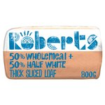 Roberts Bakery 50% White 50% Wholemeal Thick Sliced Loaf