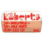Roberts Bakery 50% White 50% Wholemeal Medium Sliced Loaf
