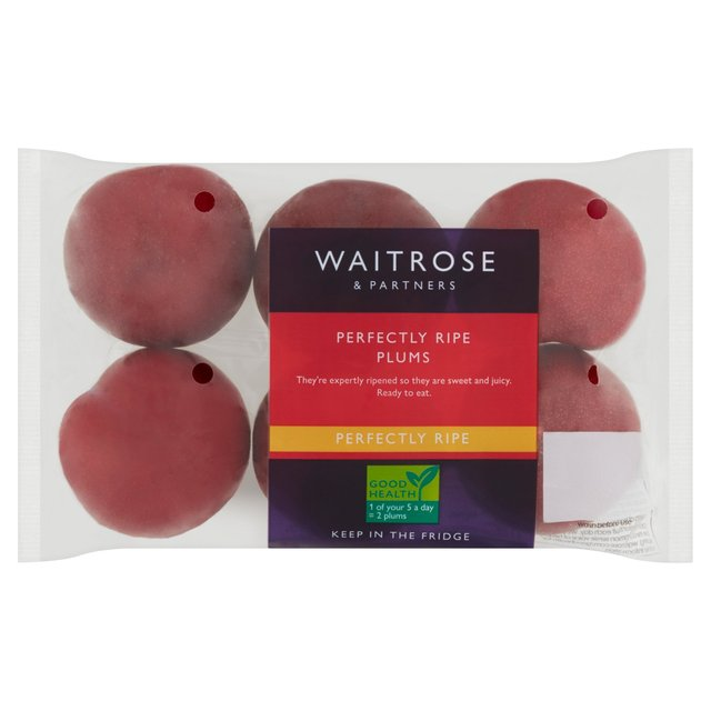 Perfectly Ripe Plums Waitrose