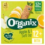 Organix Apple & Orange Organic Soft Oat Snack Bars Multipack