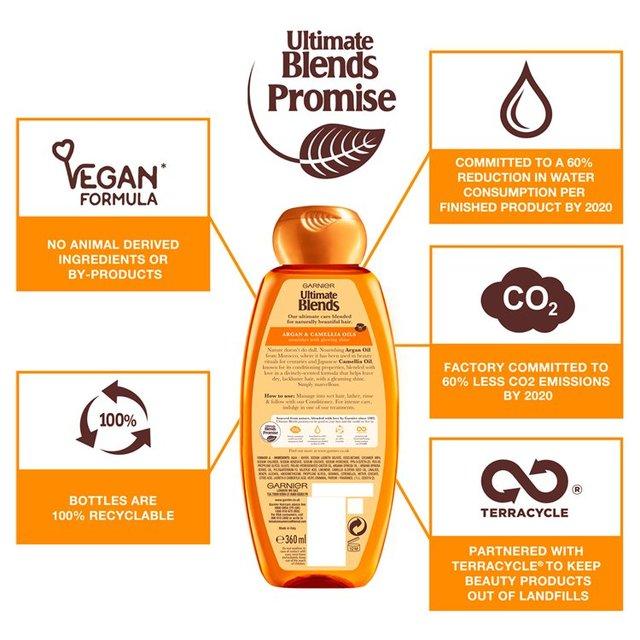 Garnier Ultimate Blends Argan Oil Shiny Hair Shampoo 400ml