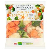 Essential Waitrose Frozen Chunky Vegetable Mix