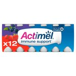 Actimel Strawberry & Blueberry Drinking Yogurts