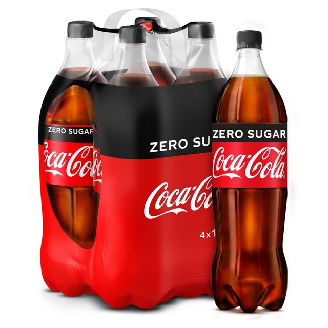 coca cola zero sugar 4 x 1 5l from ocado. Black Bedroom Furniture Sets. Home Design Ideas