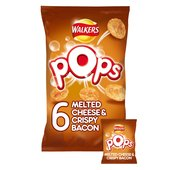 Walkers Pops Melted Cheese & Crispy Bacon Snacks 19g x