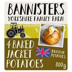 Bannisters' 4 Ready Baked Potatoes Frozen